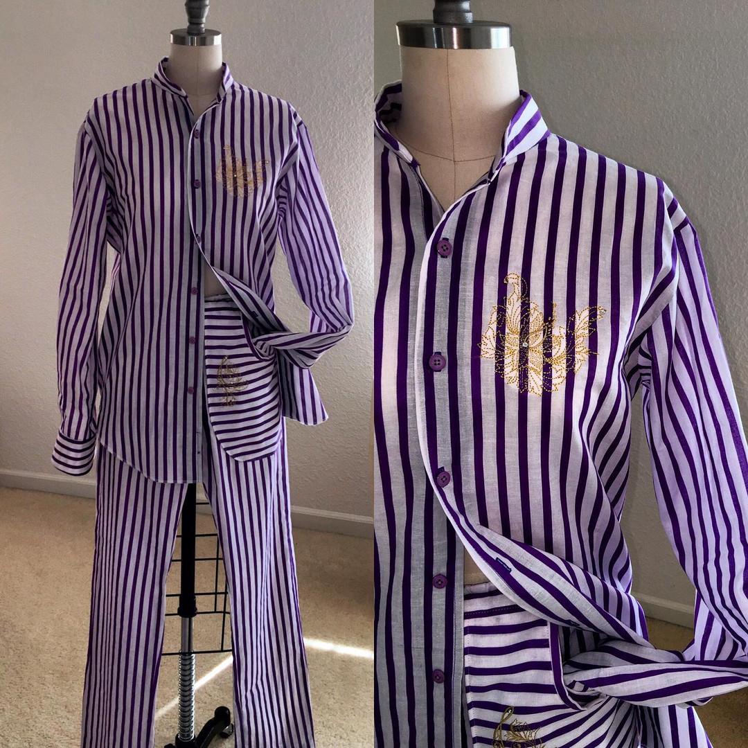 Purple Cotton Lounge Set