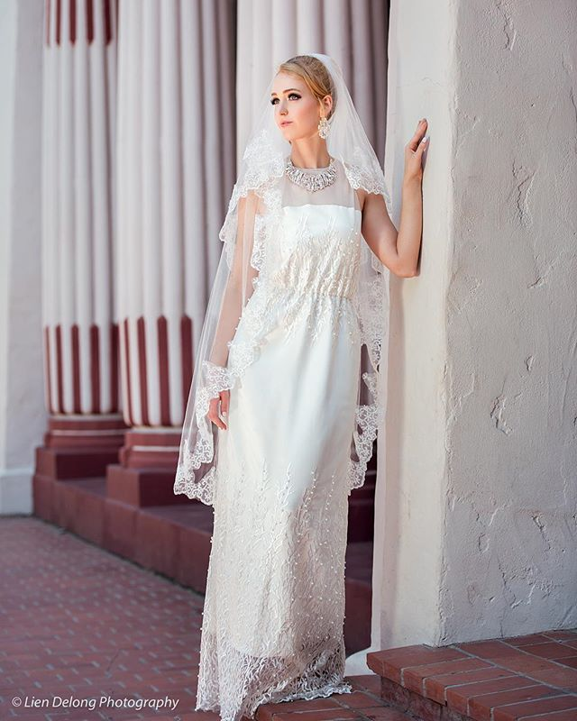 My White Coral and Pearls gown