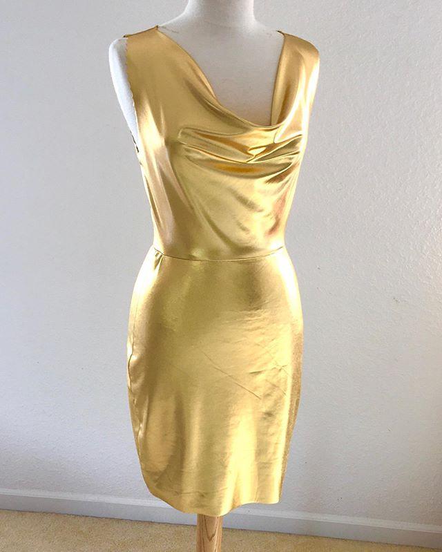 Draped Golden Girl