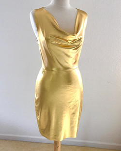 Draped Golden Girl