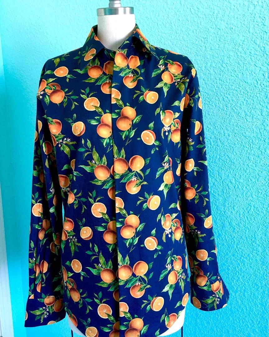 Orange Blossom Shirt (Blue)