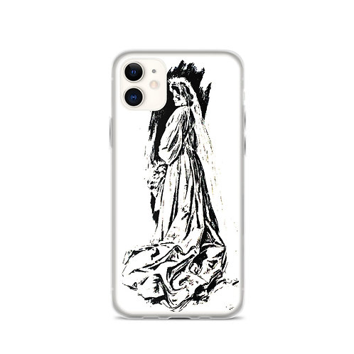 Victorian Bride iPhone Case Bridal Gift Black and White
