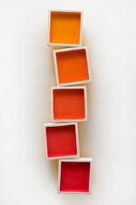 square stack, warm gradient