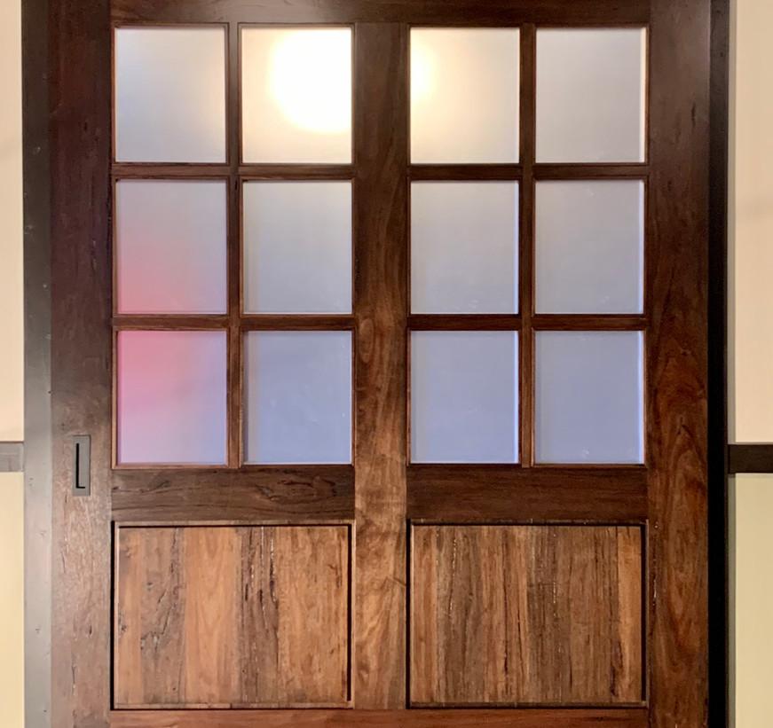 "Custom Modern Country Barn Door 76-1/2""Wx94""H"