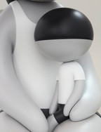 Mother and Child (Detail) 64 x 31 x 34 in 162.6 x 78.7 x 86.4 cm Fiberglass Edition of 3 + 2AP