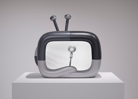 Telly + Metronome (animation) 30.5 x 32 x 19.3 in 77.5 x 81.3 x 49 cm Resin Edition of 3 + 2AP