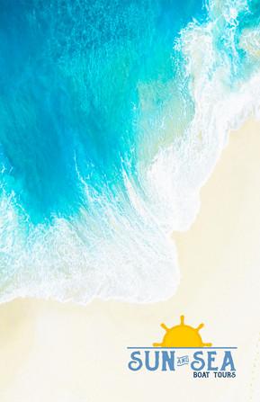 Cartão de visita sun and sea Frente