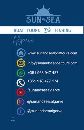 Cartão de visita sun and sea costas