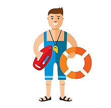 lifeguard-flat-style-colorful-cartoon-ve