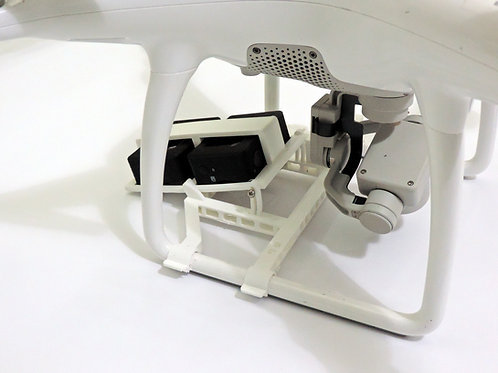 DJI Phantom 2/3 tiltable mounting adapter - Dual
