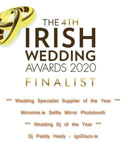 Irish Wedding Awards 2020 Logo with Text