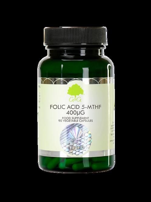 Folic Acid (5-MTHF) 400µg - 120 Vegan Capsules