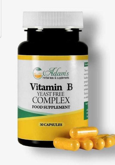Adam's Vitamin B  Complex 30 Vegan Capsules