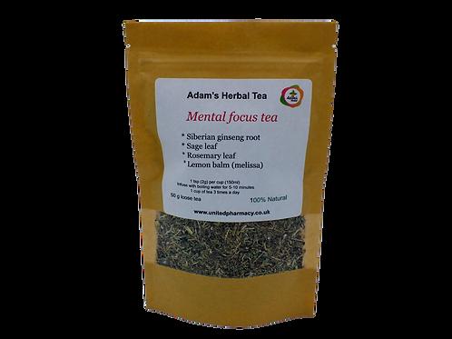Mental Focus Tea 50g- Herbal Premium Loose Tea Blend - 100% Natural - Herbal Med