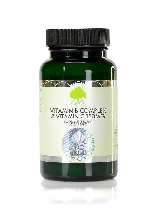 Vitamin B Complex & Vitamin C 150mg - Vegan 60 Capsules