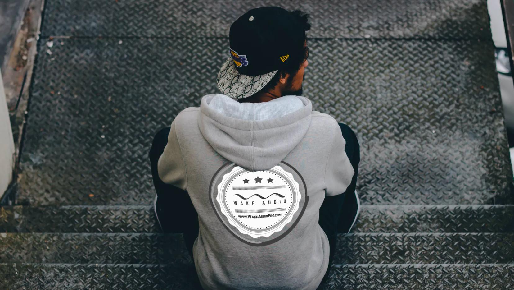 Wake Audio Grey Hoodie