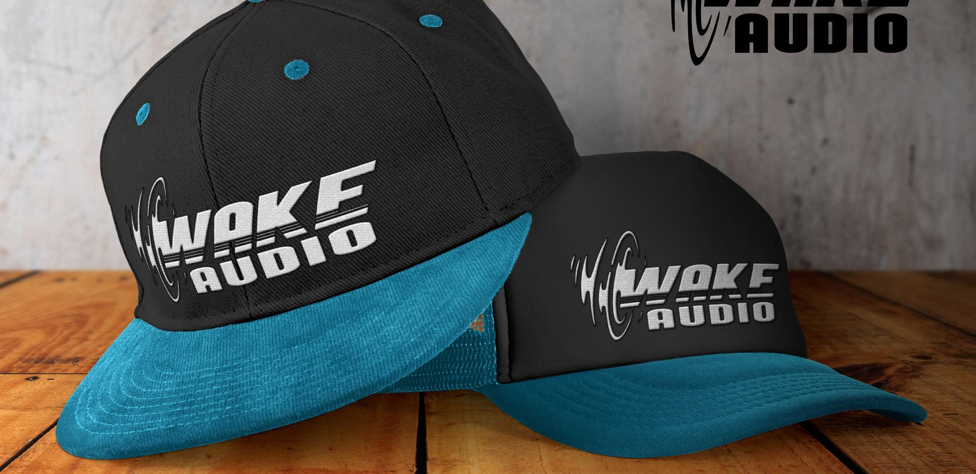 Wake Audio Blue & Black Hat
