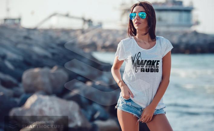 Wake Audio T-shirt (womens)