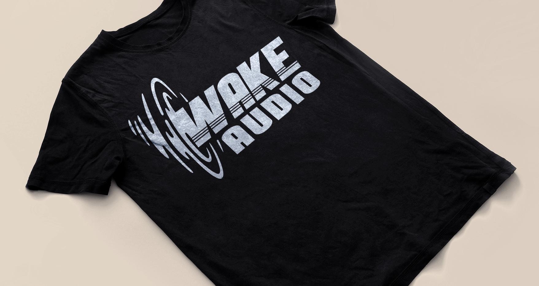 Wake Audio T-shirt (Black)