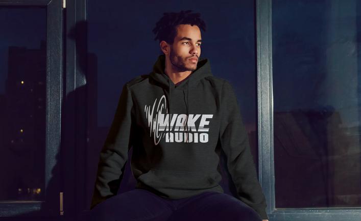 Wake Audio Black Hoodie
