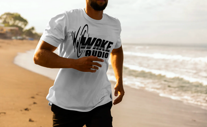 Wake Audio T-shirt (White)