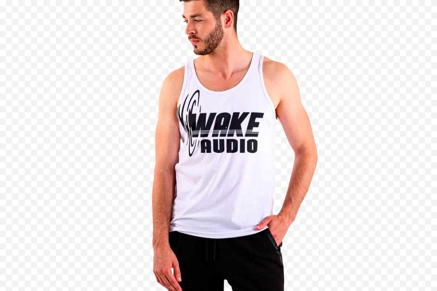 Wake Audio Tank Top (White)