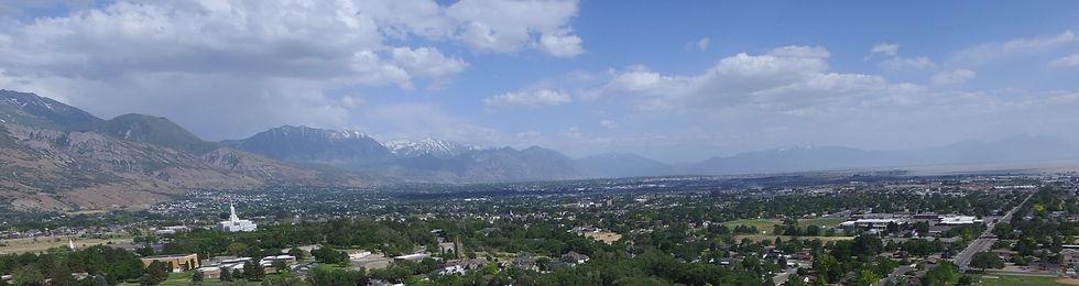 Aerial of American Fork, Utah