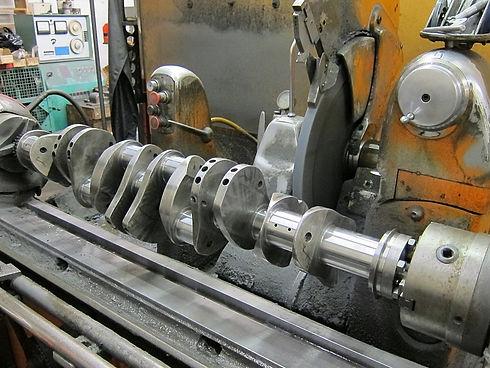 Rare Cadillac V16 crankshaft being prepa