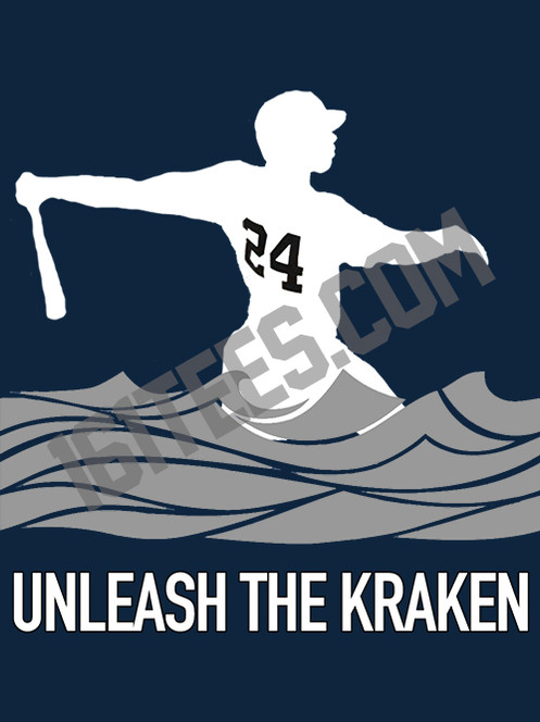 403b55629 Gary Sanchez has unleashed the Kraken! Printed on a navy, Hanes Beefy-T  adult unisex heavy-cotton, pre-shrunk t-shirt.