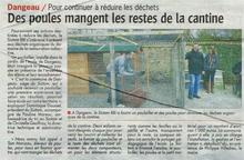 La Sitcom BBI (Brou, Bonneval, Illiers-Combray) s'engage pour réduire les déchets avec nos poules.