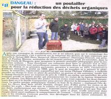 L'école de Dangeau montre comment jeter les déchets de la cantine plus écologiquement!