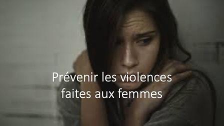 Formation prevenir les violences faites