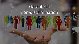 Formation garantir la non discrimination
