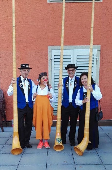Alphorn Trio mit Clown SUSI