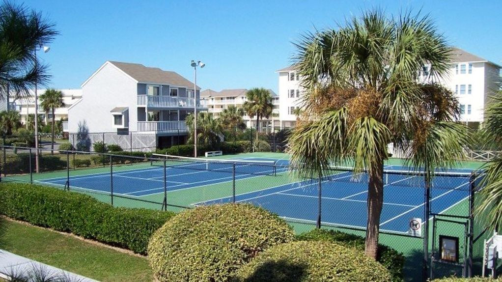 Two lighted courts
