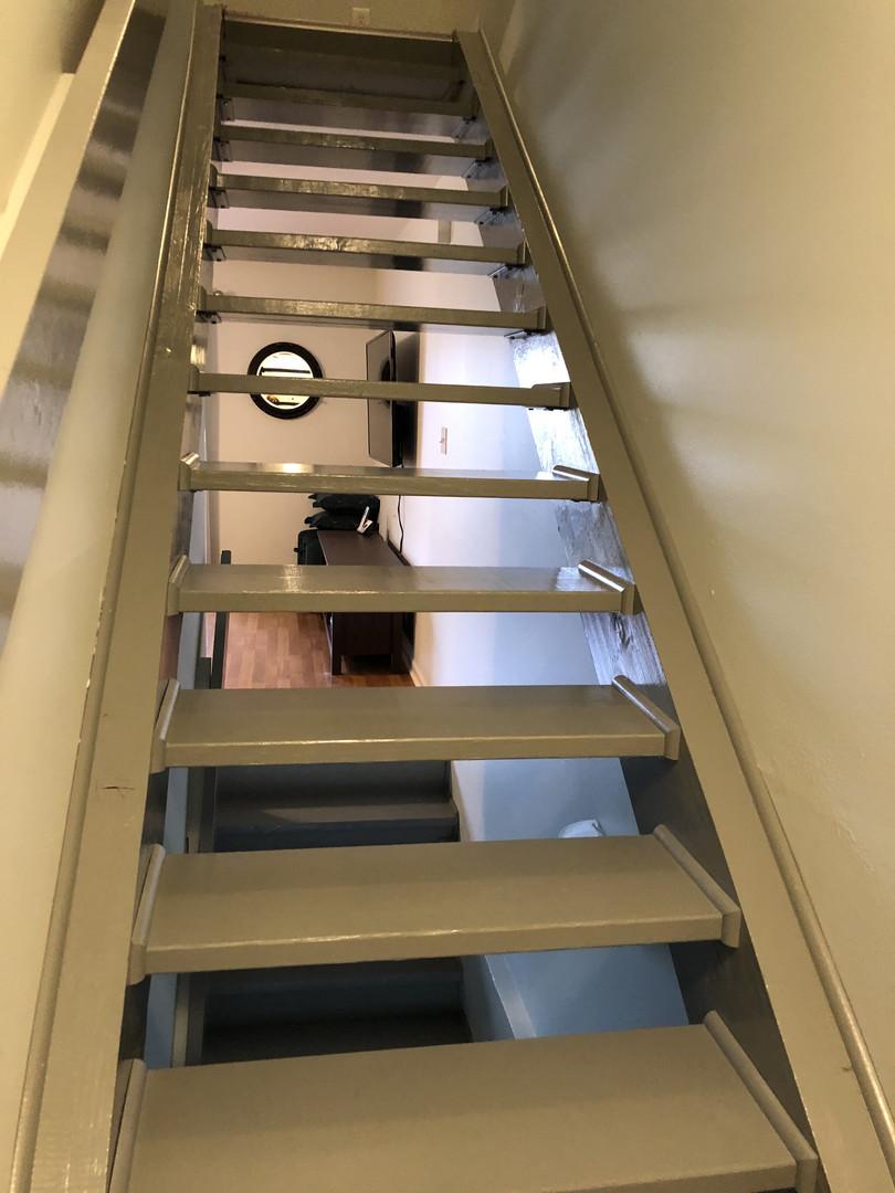 Open stairs to upper floor
