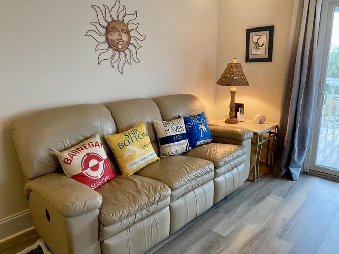 Reclining sofa in family room