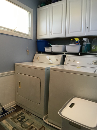 Laundry room off master