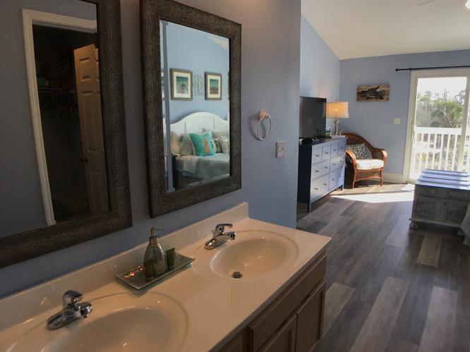 Double vanity in master suite