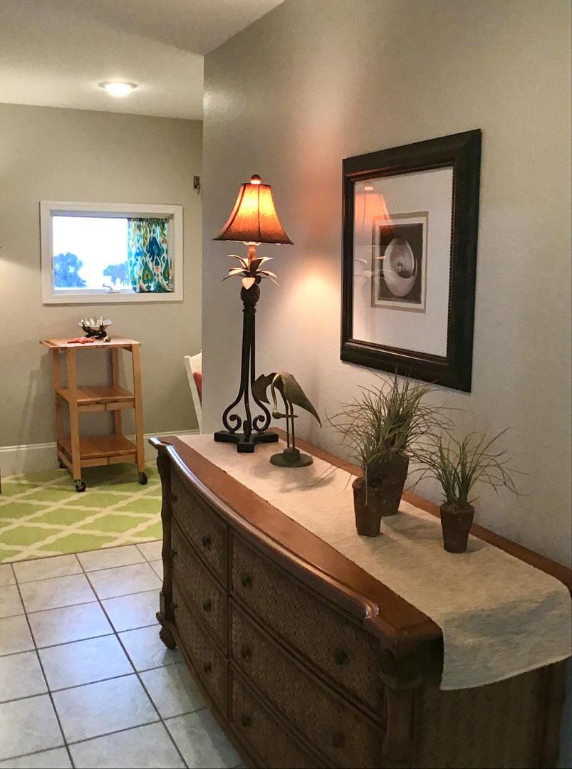 Leads to bathroom & office nook