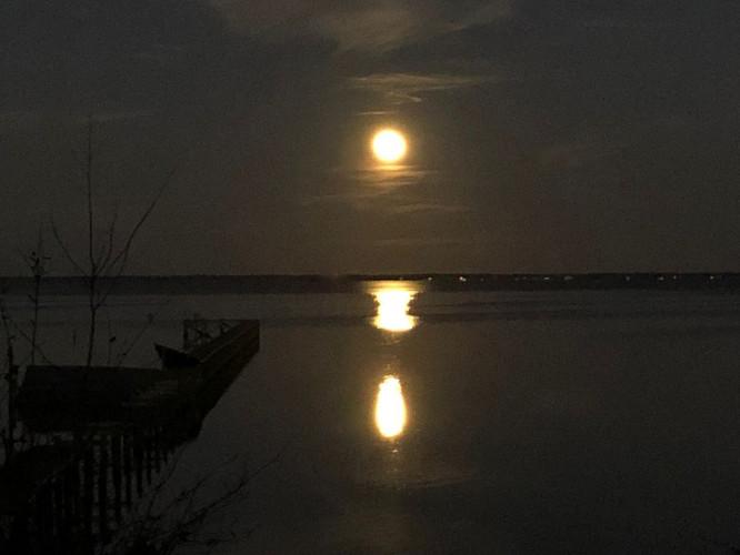 Full Moon Rising Over the Bay