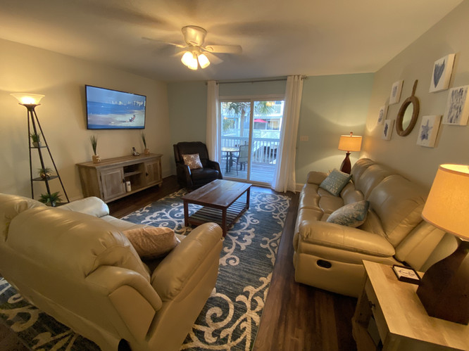 Comfortable Living Area with Large TV