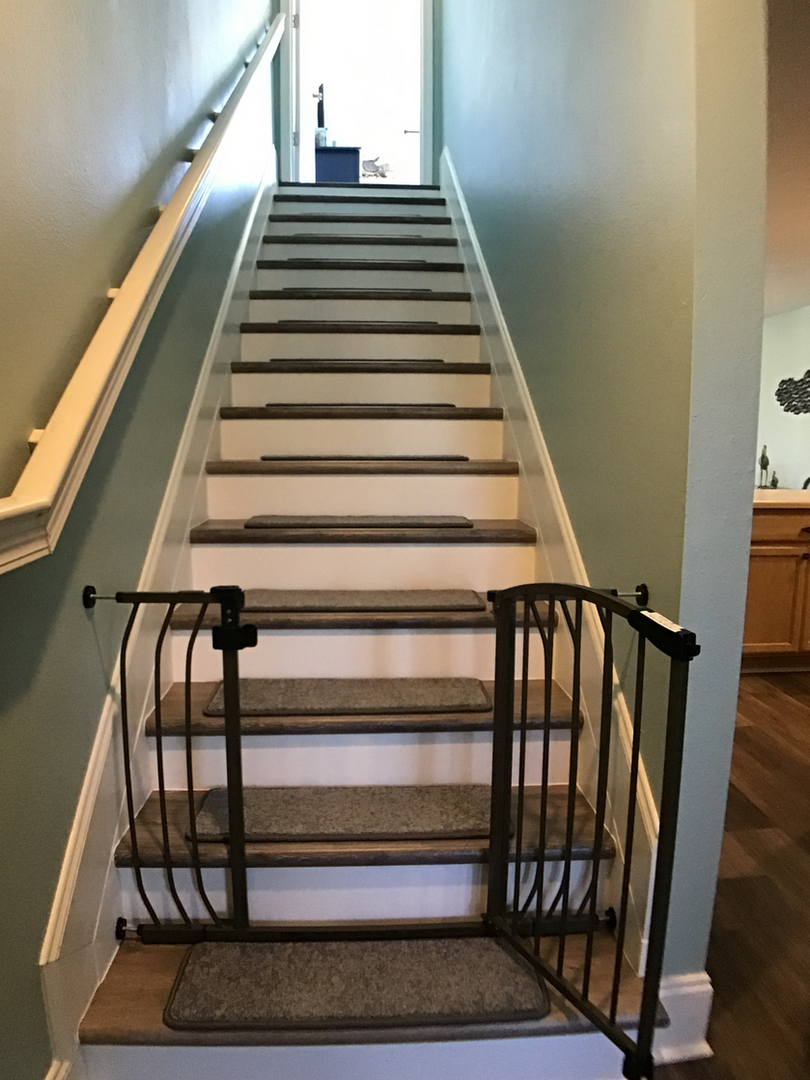 Stairway to master suite
