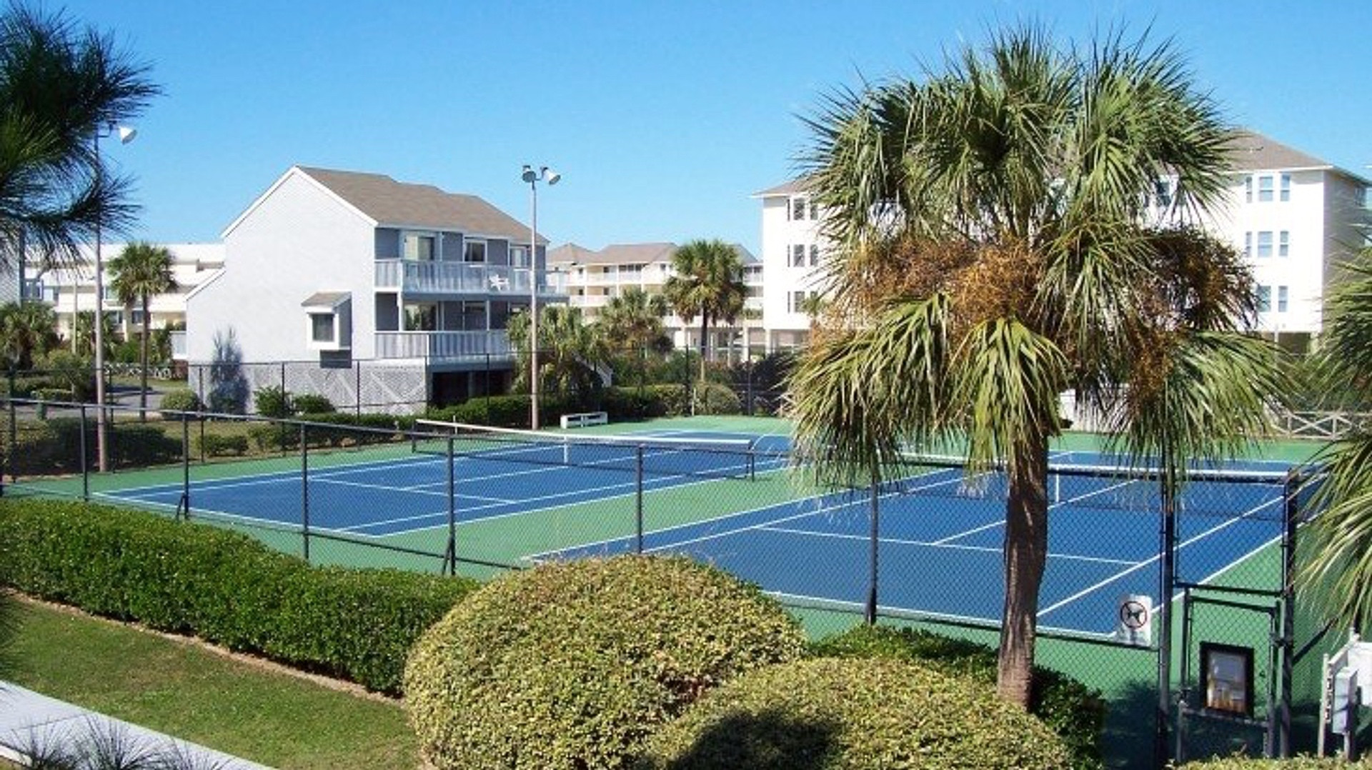 Tennis courts-FantaSea is middle unit on