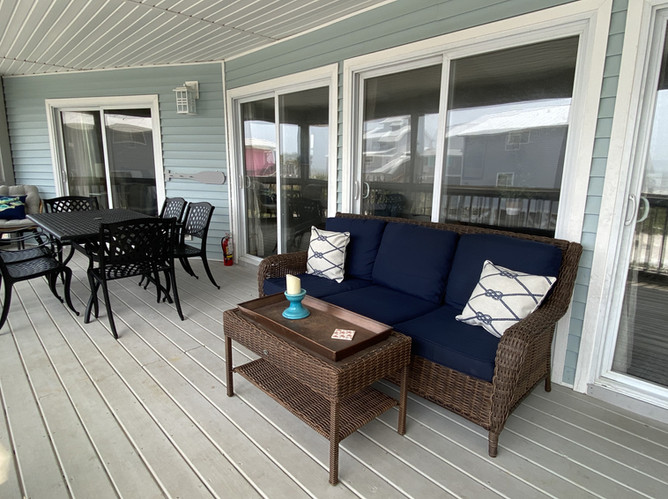 Screened porch from family area