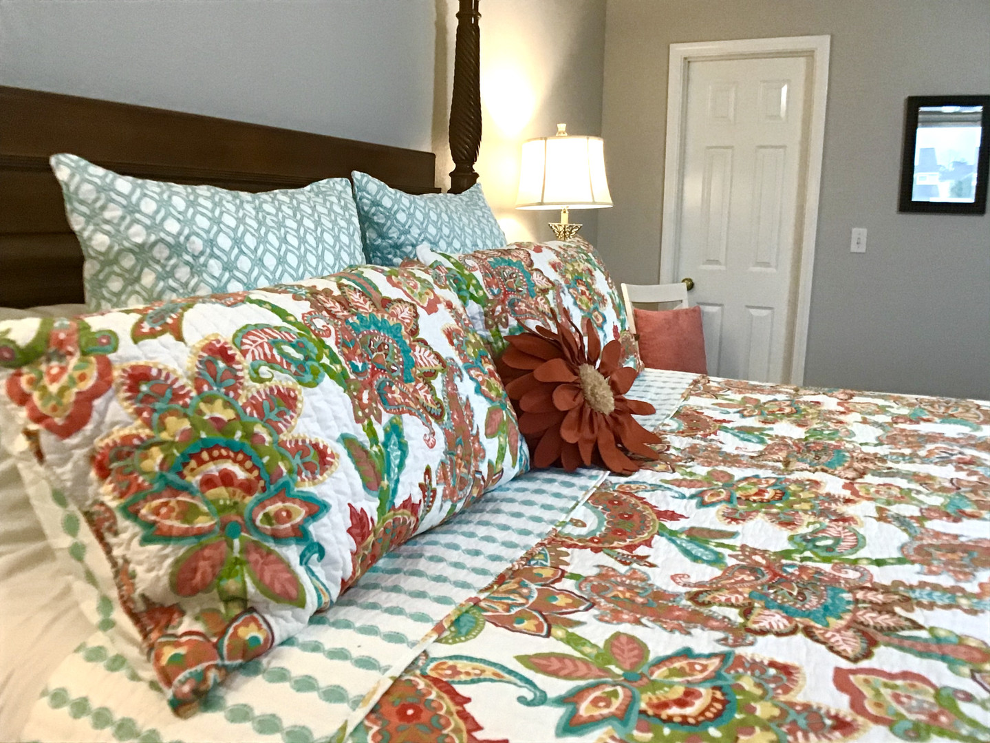 Comfortable master with walk-in close