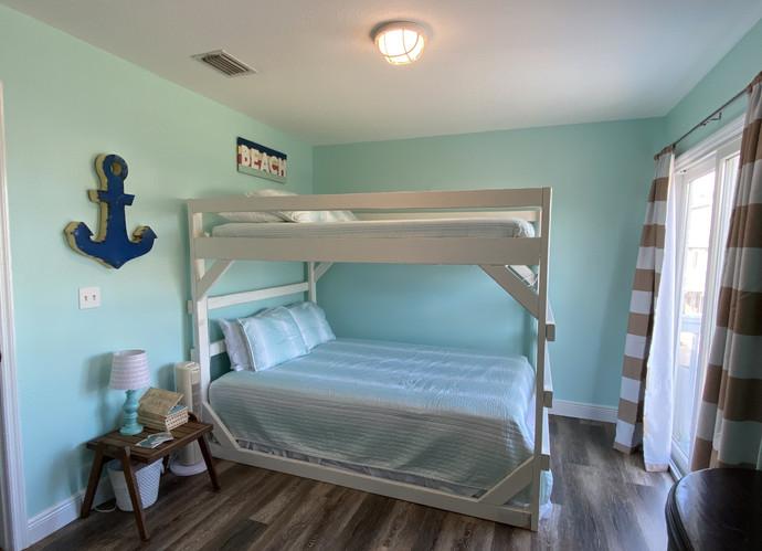 First floor queen over queen bunk room