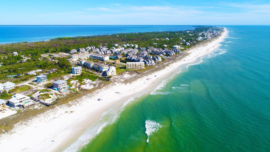 Ariel view of north end of the Cape