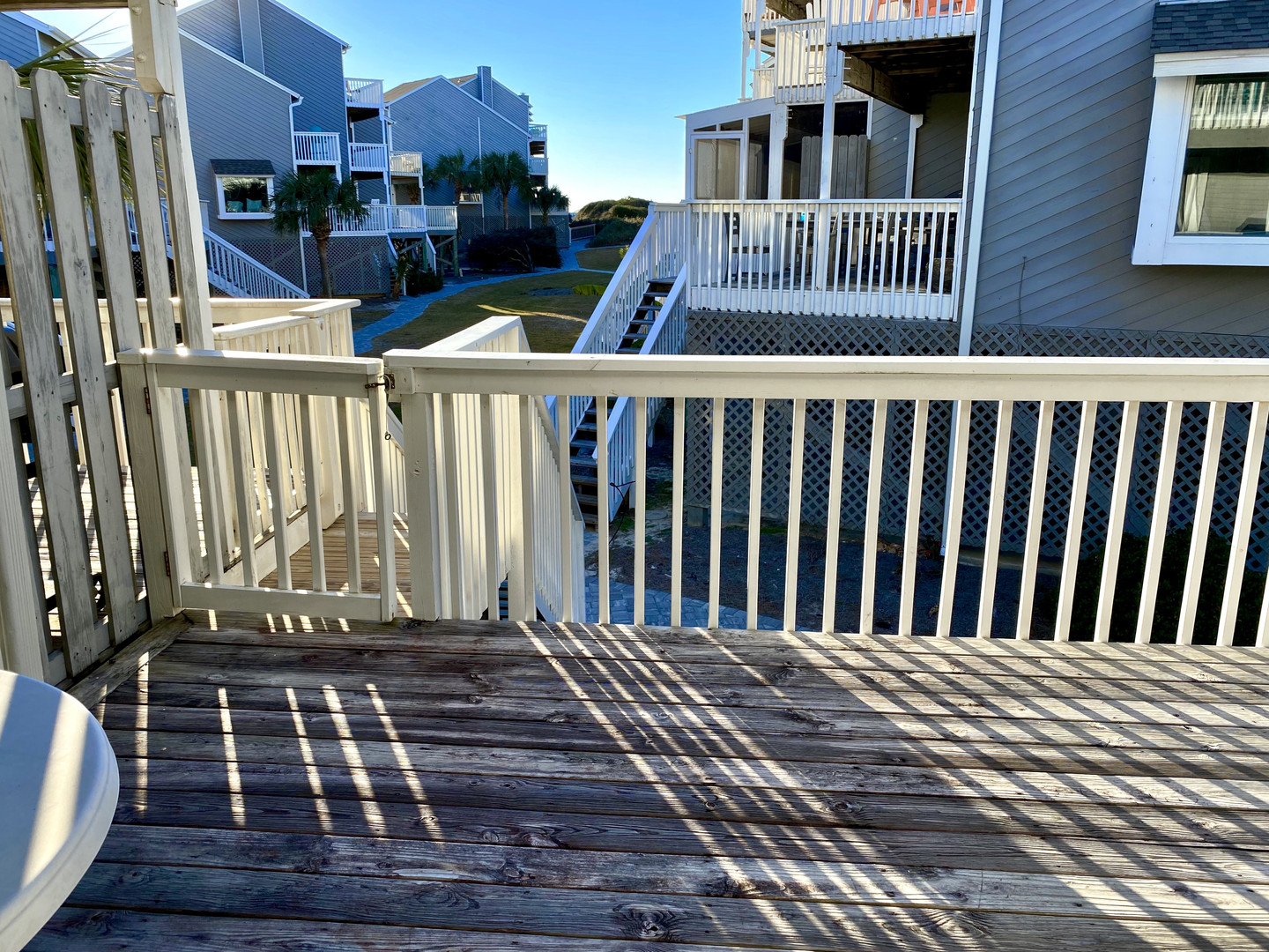 Large deck and short walk to the beach