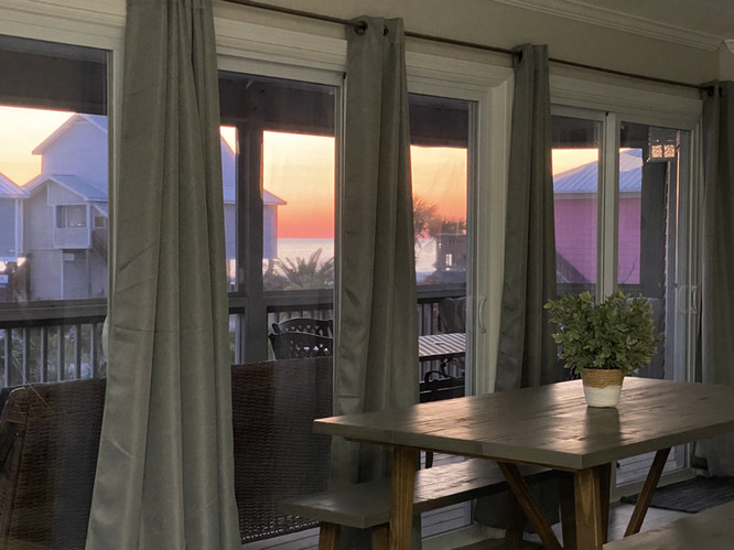 Sunset from dining area